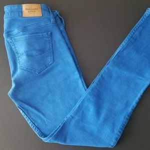 Abercrombie 00R 24x29  Low Rise Blue Skinny Jeans
